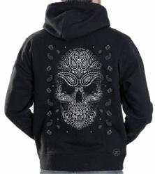 Bandana Skull Hoodie Sweat Shirt