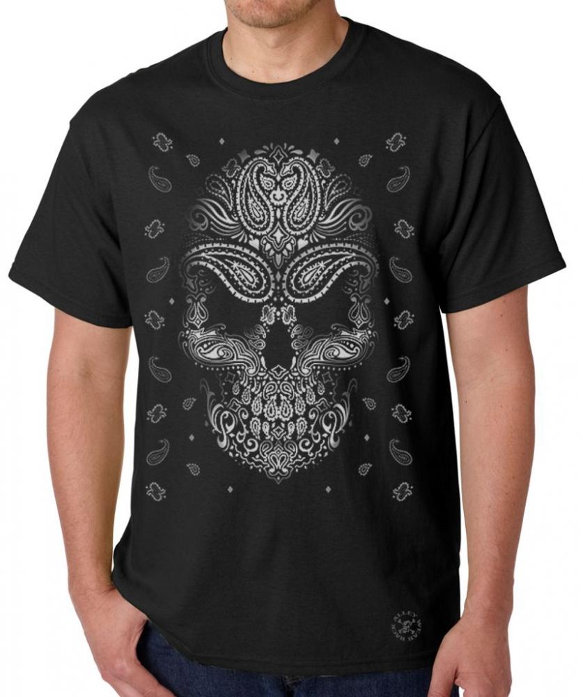 bandana skull t shirt back alley wear. Black Bedroom Furniture Sets. Home Design Ideas