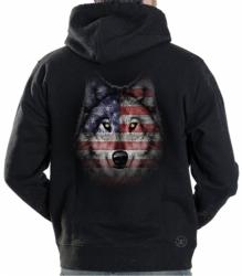 Wolf Howl Americana Hoodie Sweat Shirt