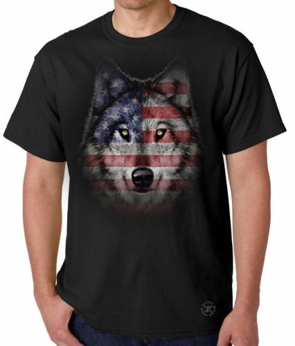 Wolf Howl Americana T-Shirt