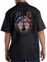 Wolf Howl Americana Work Shirt