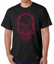 Neon Cracked Skull T-Shirt