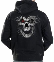 Cyborg Skull Hoodie Sweat Shirt