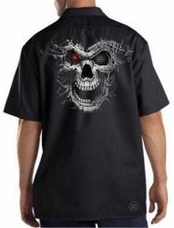 Cyborg Skull Work Shirt