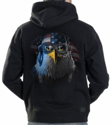 Freedom Fighter Eagle Hoodie Sweat Shirt