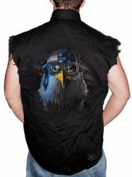 Freedom Fighter Eagle Sleeveless Denim Shirt