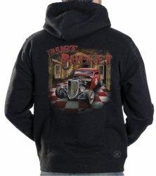 Rust Bucket Hot Rod Hoodie Sweat Shirt