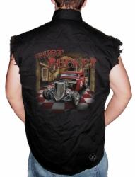 Rust Bucket Hot Rod Sleeveless Denim Shirt