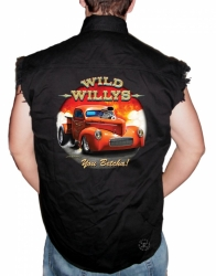Wild Willys Sleeveless Denim Shirt