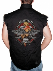 Knucklehead Motorcycles Sleeveless Denim Shirt