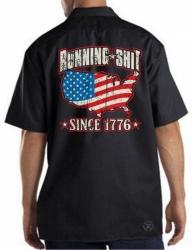 Running Shit Since 1776 Work Shirt