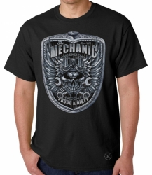 Mechanic Skull T-Shirt