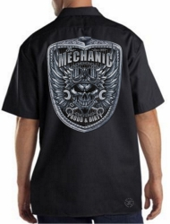 Mechanic Skull Work Shirt