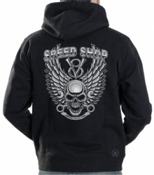 Speed Shop Skull Hoodie Sweat Shirt