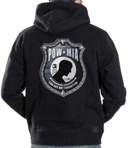 POW MIA Shield Hoodie Sweat Shirt