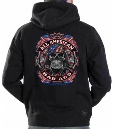 All American Bad Ass Hoodie Sweat Shirt