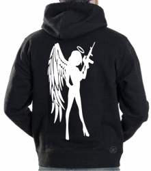Angel Girl w/ AR-15 Hoodie Sweat Shirt