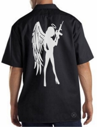 Angel Girl w/ AR-15 Work Shirt
