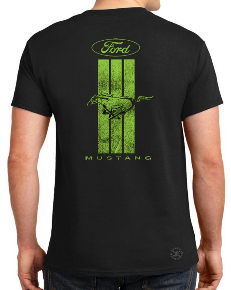 Ford Mustang Stripe T Shirt Back Alley Wear