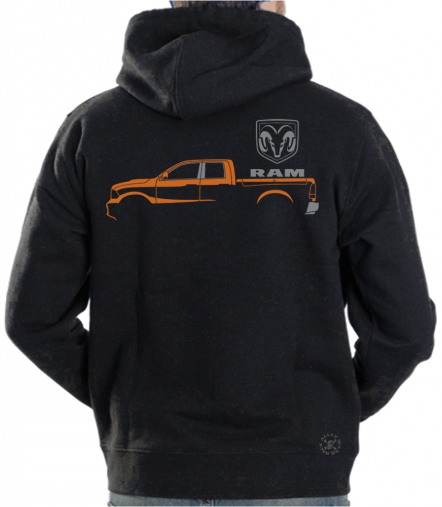 Dodge Ram Hoodie >> Dodge Ram Hoodie Sweat Shirt Back Alley Wear