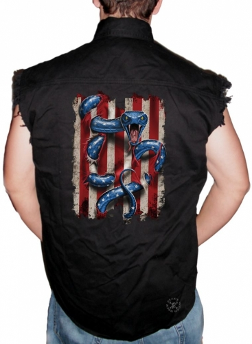 American Serpent Sleeveless Denim Shirt