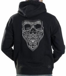 Luctus Bandana Skull Hoodie Sweat Shirt