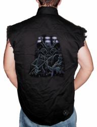 Reaper Band Sleeveless Denim Shirt