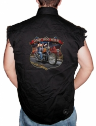 Going Hog Wild Sleeveless Denim Shirt