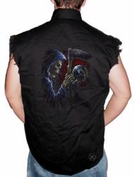 Reaper Sphere Sleeveless Denim Shirt