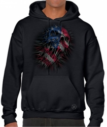 US Flag Skull Hoodie Sweat Shirt