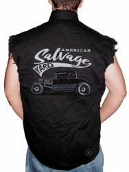 American Salvage Yard Sleeveless Denim Shirt