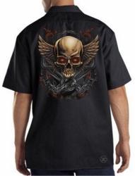Skull & Wings Work Shirt