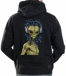 Rasta Alien Hoodie Sweat Shirt