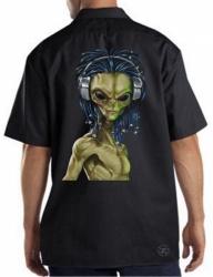 Rasta Alien Work Shirt