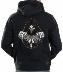 Gangster Girl w/ Guns Hoodie Sweat Shirt