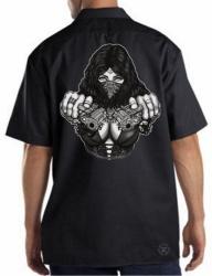 Gangster Girl w/ Guns Work Shirt