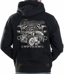 Greaser Outlaw Hot Rod Hoodie Sweat Shirt