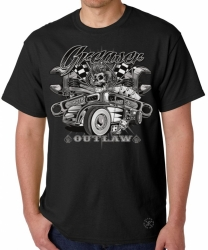 Greaser Outlaw Hot Rod T-Shirt