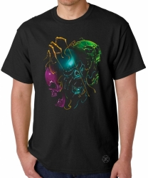 Melting Evil Skulls T-Shirt