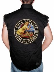 Full Service Boring & Stroking Sleeveless Denim Shirt