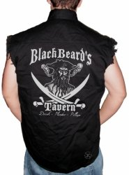 Blackbeard's Tavern Sleeveless Denim Shirt