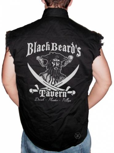 Blackbeard's Tavern Sleeveless Denim Shirt