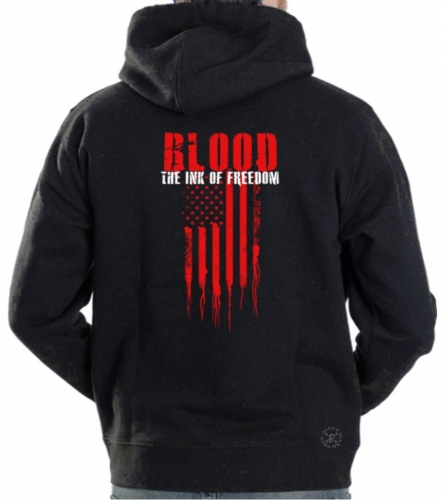 Blood The Ink of Freedom Hoodie Sweat Shirt