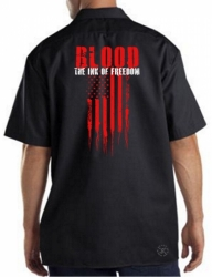 Blood The Ink of Freedom Work Shirt