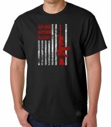 Rifle Flag & Bullets T-Shirt