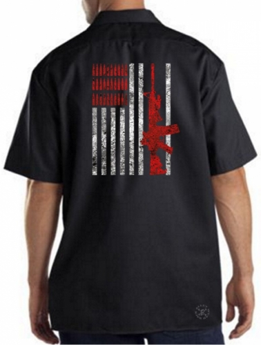 Rifle Flag & Bullets Work Shirt