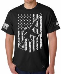 AR15 American Flag T-Shirt