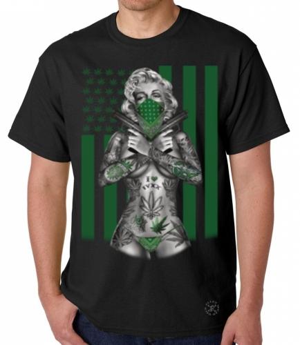 Marilyn Weed Flag T-Shirt