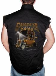 Gangsta Street Rods Sleeveless Denim Shirt