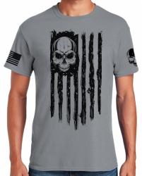 American Flag Patriot Skull T-Shirt